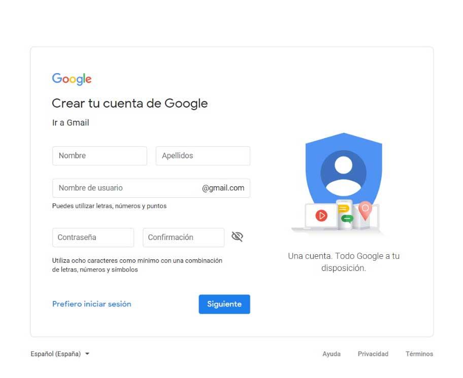 conectar gmail con tu dominio