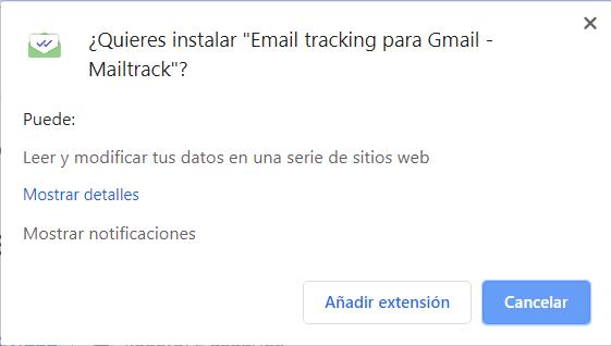 instalación Mailtrack