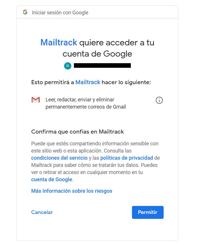 Mailtrack cuenta