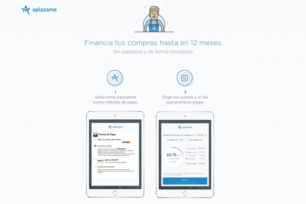 Financiar online con Aplazame