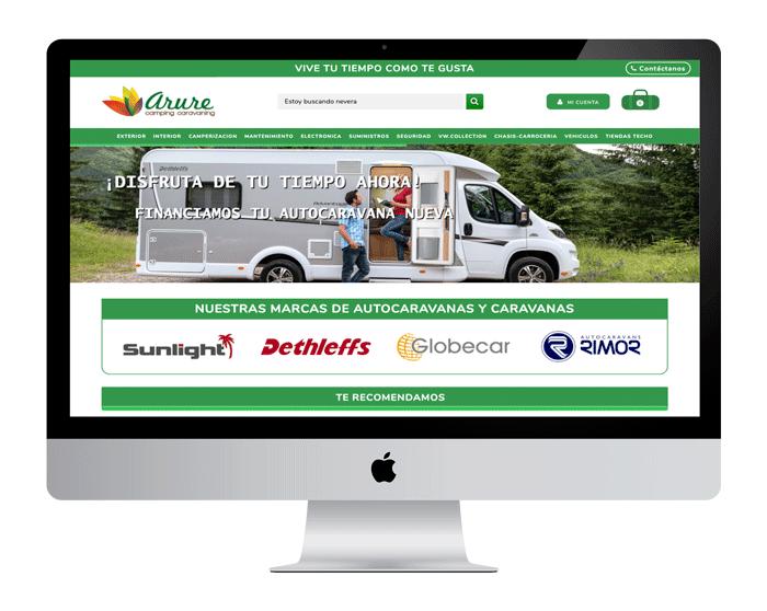 venta online arurecaravanas.com