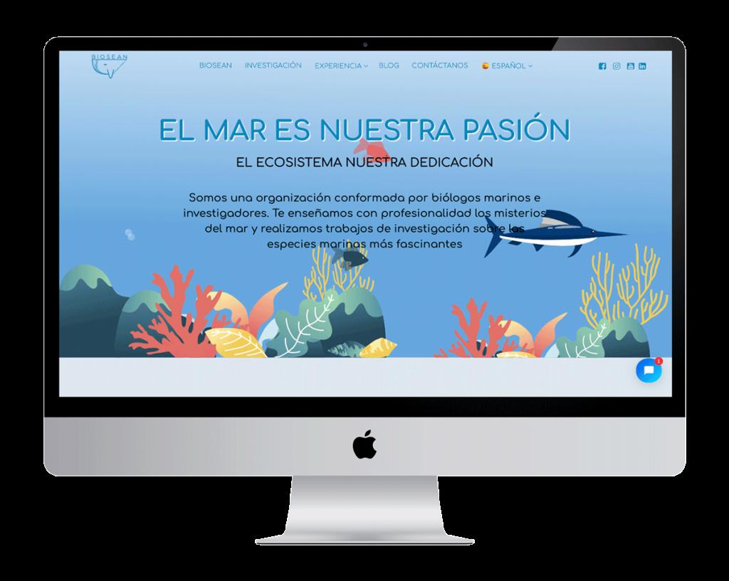 Página web reserva online biosean.com